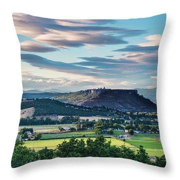 A Peaceful Land Throw Pillow