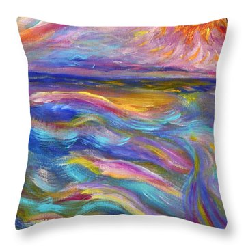 A Peaceful Mind - Abstract Painting Throw Pillow