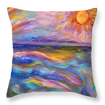 A Peaceful Mind - Abstract Painting Throw Pillow by Robyn King