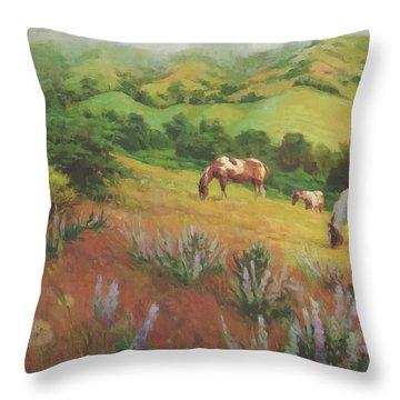 A Peaceful Nibble Throw Pillow