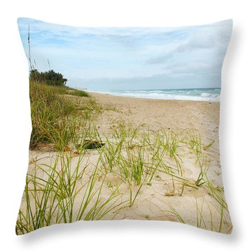 A Peaceful Place By The Sea Throw Pillow