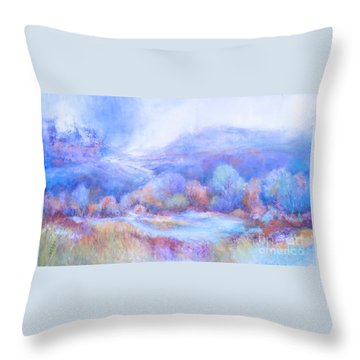 A Peaceful Place Throw Pillow by Glory Wood