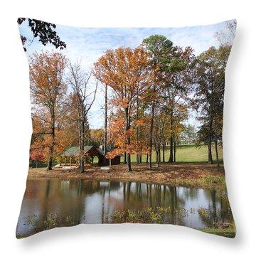 A Peaceful Spot Throw Pillow