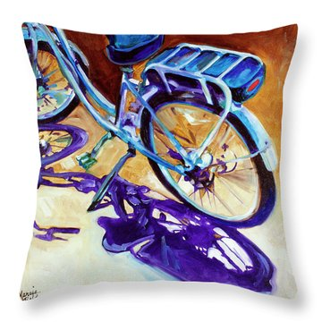 A Pedego Cruiser Bike Throw Pillow