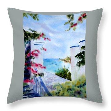 A Peek At Paradise Throw Pillow