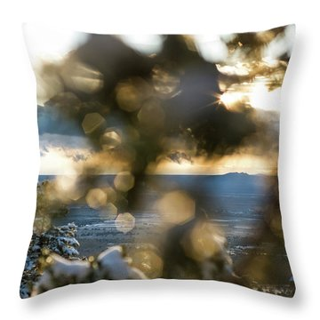 A Peek At Taos Mesa Throw Pillow