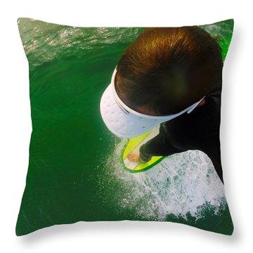 A Pelican's View Throw Pillow