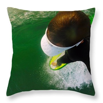 A Pelican's View Throw Pillow