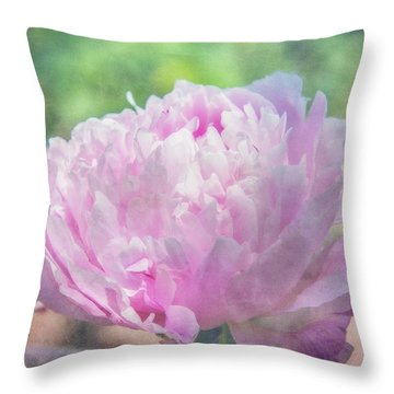 A Peony For Mom Throw Pillow