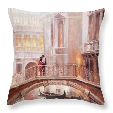 A Perfect Afternoon In Venice Throw Pillow