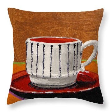 A Perfect Cup Throw Pillow by John Williams