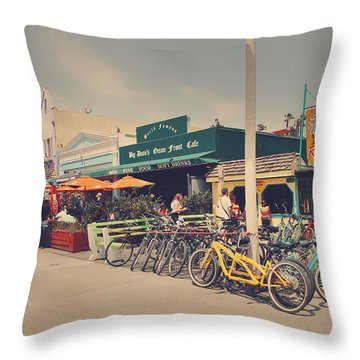 A Perfect Day For A Ride Throw Pillow by Laurie Search