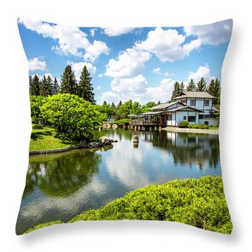 A Perfect Day In The Garden Throw Pillow
