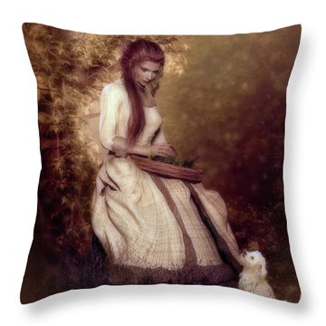 Throw Pillow featuring the digital art Lost In Thought by Shanina Conway
