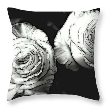 A Perfect Pair Bw Throw Pillow
