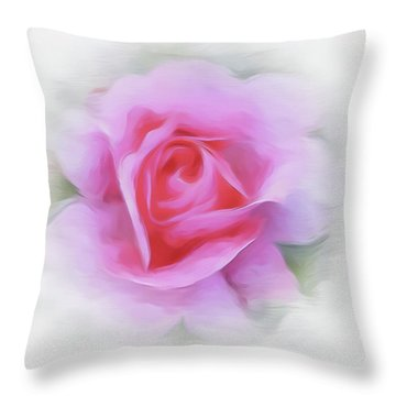 A Perfect Pink Rose Throw Pillow