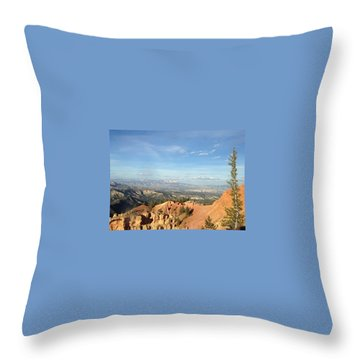 A Perfect Spot At Bryce Canyon Throw Pillow