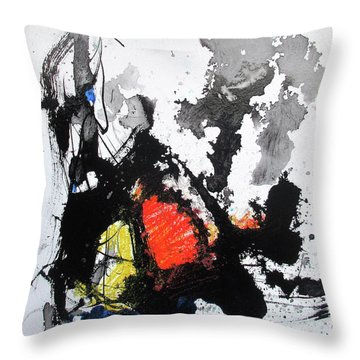 Throw Pillow featuring the painting A Perfect Storm by Rick Baldwin