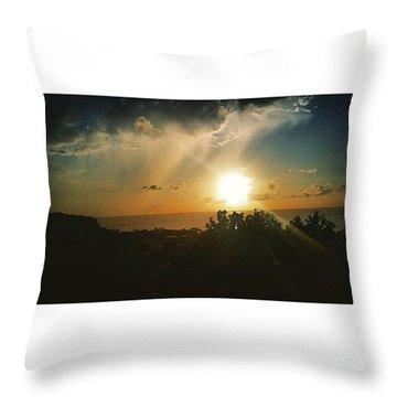 A Perfect Sunset  Throw Pillow