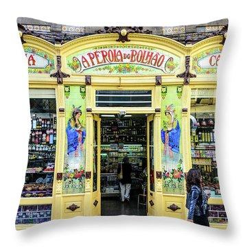 Throw Pillow featuring the photograph A Perola Do Bolhao In Porto by RicardMN Photography