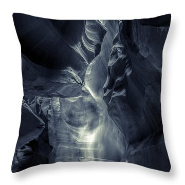 A Phantom Emerges From Antelope Canyon Throw Pillow