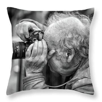 A Photographers Photographer Throw Pillow