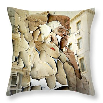 A Pierced Tongue  Throw Pillow