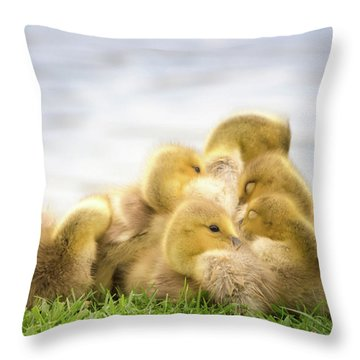A Pile Of Goslings Throw Pillow