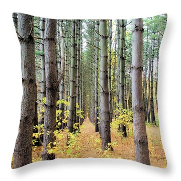 A Pines Army Throw Pillow