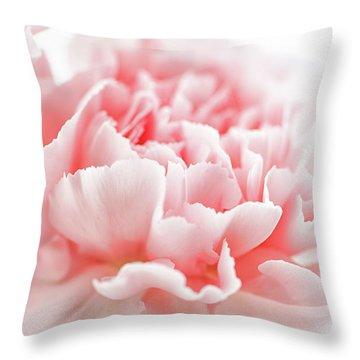 A Pink Carnation Throw Pillow