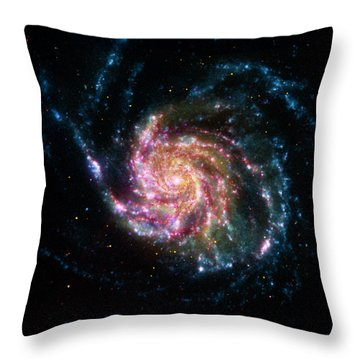 A Pinwheel In Many Colors Throw Pillow