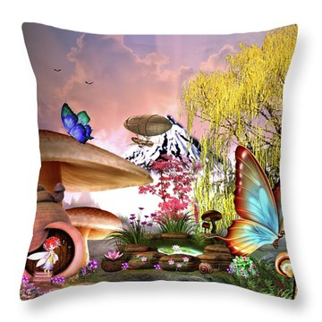 A Pixie Garden Throw Pillow