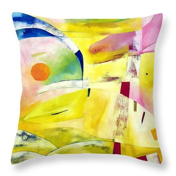 Throw Pillow featuring the painting A Place Called Home by Linda Cull