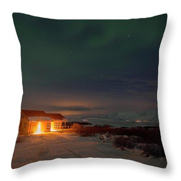 Throw Pillow featuring the photograph A Place For The Night, South Of Iceland by Dubi Roman