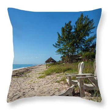 Throw Pillow featuring the photograph A Place In The Sun by Michelle Wiarda