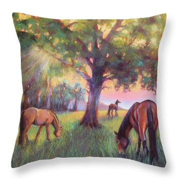 A Place Of Healing Throw Pillow by Susan Jenkins