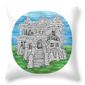 House Of Secrets Throw Pillow