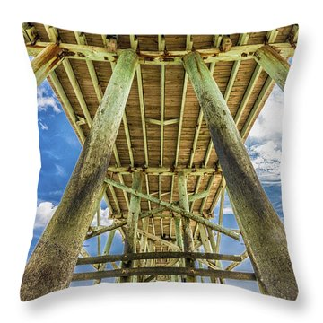 Throw Pillow featuring the photograph A Place To Chill by Paula Porterfield-Izzo