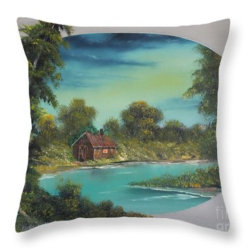 A Place To Reflect Throw Pillow