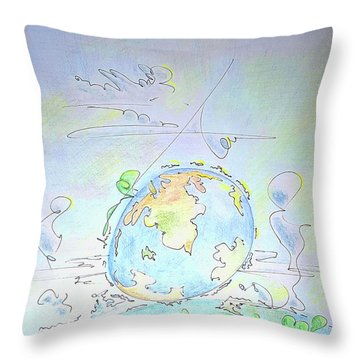 A Planet Remembered Throw Pillow