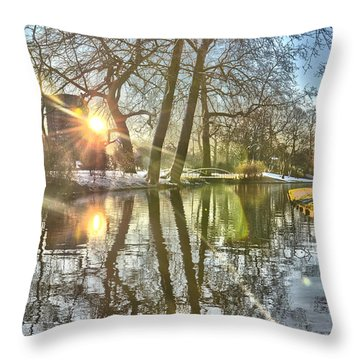 A Pond In Rotterdam Throw Pillow