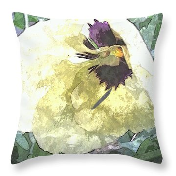 A Pop Of Pansy Throw Pillow