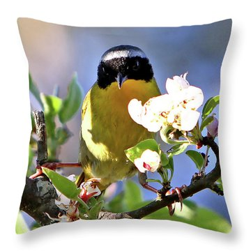 A Pose Throw Pillow by Marle Nopardi