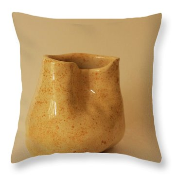 Throw Pillow featuring the photograph A Pot On A Leaf by Itzhak Richter