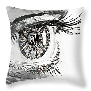 A Prayerful Eye Throw Pillow