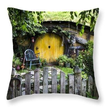 A Pretty Little Hobbit Hole Throw Pillow