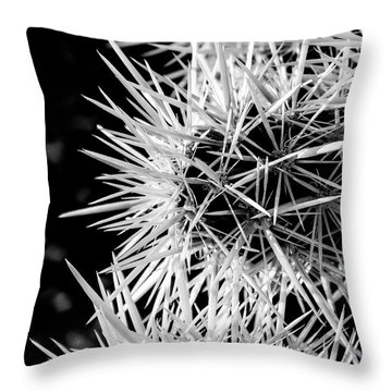A Prickly Subject Throw Pillow