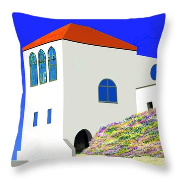 A Private Beach Throw Pillow
