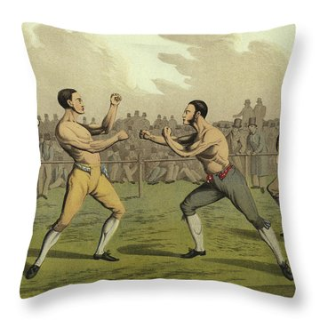 A Prize Fight Throw Pillow