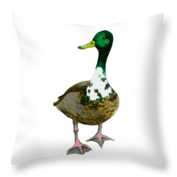 A Proud Duck Throw Pillow